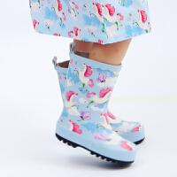 新款 男女儿童卡通橡胶雨鞋 幼儿园宝宝户外防滑水鞋 中筒雨靴