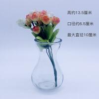 塑料花瓶插花 透明水培花瓶高款缩腰型插花瓶 风信子绿萝水仙植物专用 风信子玻璃瓶 中等
