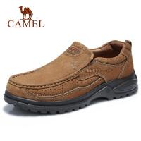 camel骆驼男鞋 2018秋季新品大休闲牛皮鞋运动户外一脚套套脚皮鞋