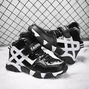 男童鞋秋冬季10加绒保暖冬鞋15岁小男孩鞋子二棉鞋休闲儿童运动鞋