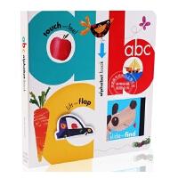 现货 英文原版 ABC Alphabet Book 我的第一本英语字母书 认知启蒙 我的启蒙英文字母书