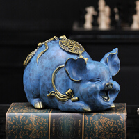 新中式家居饰品猪摆件装饰品客厅小摆设房间礼品幸福猪工艺品