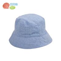 贝贝怡婴儿帽子春秋双面可戴宝宝渔夫帽夏季透气遮阳帽141P050