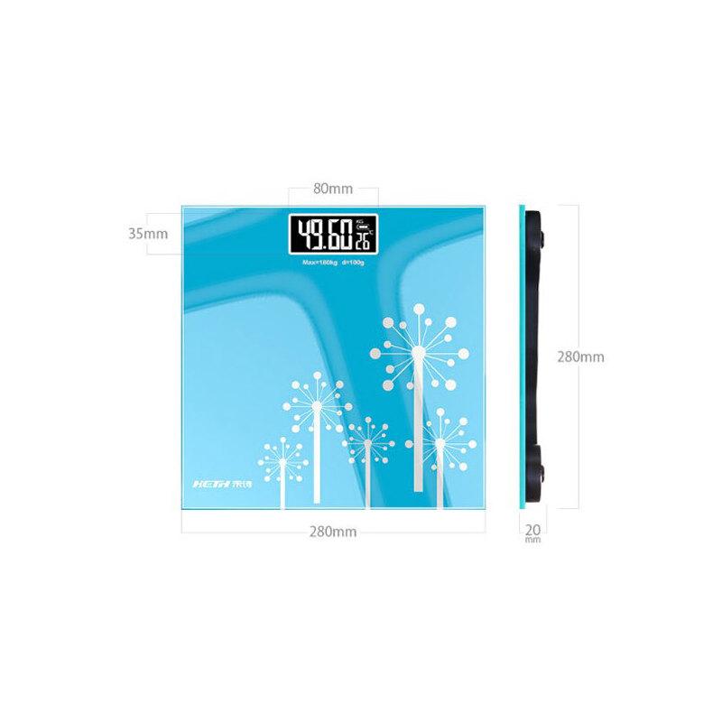 家用体重秤 卡通电子秤 人体秤健康秤称重体重称精准 家用人体秤  加厚钢化玻璃 自动开关机 节能省电