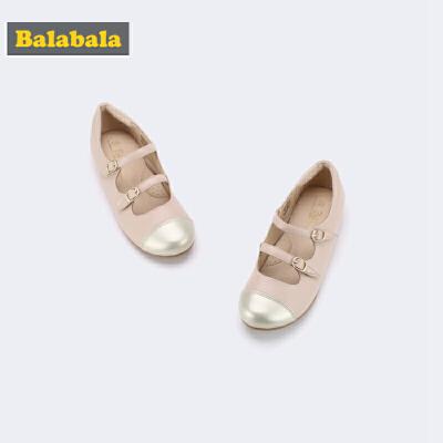 巴拉巴拉童鞋女童单鞋公主鞋大童新款秋季简约甜美儿童皮鞋女