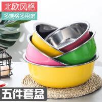 20200410154313020不锈钢盆五件套圆形厨房家用加深加厚盆套装汤盆打蛋洗菜盆