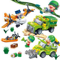 新品邦宝益智拼装小颗粒积木儿童玩具正版炮炮兵坏人逃脱6226