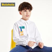 巴拉巴拉男童衬衫长袖秋装2019新款童装儿童衬衣印花上衣洋气百搭