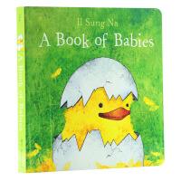 宝宝的书 英文原版 A Book of Babies 低幼纸板书 婴儿绘本 儿园学习 育儿
