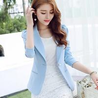 201秋季新款韩版大码纯色修身长袖小西装外套女士休闲西服cdf-8028