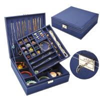 首饰盒双层绒布欧式木质韩国公主家居带锁装饰品化妆女收纳盒大