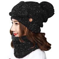 帽子女冬天保暖针织棉帽子女士骑车护耳毛线帽韩版休闲百搭