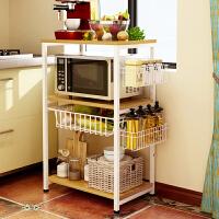 亿家达厨房置物架落地收纳架家用多层微波炉调料架子多功能储物架