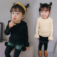女宝宝毛衣套头秋韩版小童打底衫婴儿1-3岁0儿童线衣女童针织衫