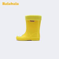 巴拉巴拉宝宝加绒雨鞋男女小童防滑雨靴女新款学生水鞋潮