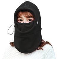 帽子户外冬季抓绒头套男女防风骑行防寒头罩防尘保暖面罩护脸装备