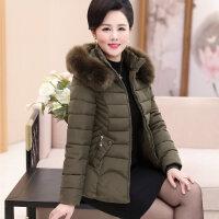 冬装中老年女装棉衣短款小棉袄中年妈妈装加厚羽绒外套上衣潮