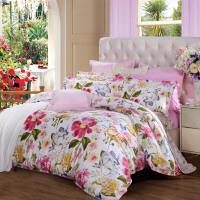 【限时直降】富安娜家纺 床上四件套 纯棉床品套件 全棉印花床单被套 几米阳光 1.8米床