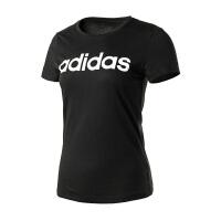 Adidas阿迪达斯 女装 2017新款 女子运动休闲圆领短袖T恤 CV7026