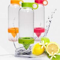 便携活力瓶柠檬水杯喝水器果汁杯榨汁杯 柠檬杯子 塑料杯