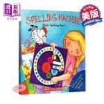 英文原版 Spelling Machine 趣味转转书 精装大开本 学乐神奇的英文拼字图解书 英文单词拼读游戏书 寓教