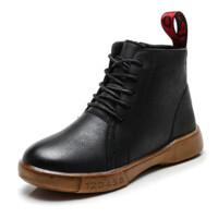 男童鞋儿童棉鞋加绒冬季中大童棉靴男孩二棉鞋短靴子