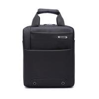 男包单肩包竖款斜挎业务包工作办公包手提电脑包休闲商务包 13寸