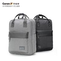 卡拉羊电脑双肩包商务休闲背包男女大容量防水包CX5945