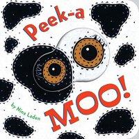 Peek-a Moo! 猜猜小奶牛 英文原版 猜猜我是谁同系列 启蒙躲猫猫洞洞纸板书 0-3岁宝宝