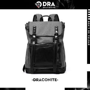 【支持礼品卡支付】DRACONITE时尚潮流韩版潮牌双肩包男帆布书背包女许魏洲同款11489