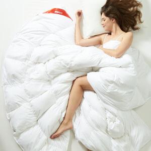优雅100 新款保暖白鸭丝绒冬被芯 秋冬加厚保暖被子 羽丝绒被子