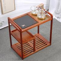 烧水茶台实木茶车移动茶台烧水壶一体功夫茶具茶盘套装家用小茶桌