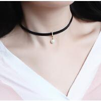项链 女 珍珠  短款 链子 韩版 时尚 颈圈 锁骨链 女 简约颈链 项链 个性 颈带 配饰