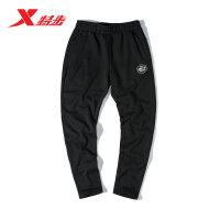 特步男运动裤简约纯色舒适运动裤男针织长裤982429631510