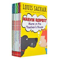 【中商原版】麻烦精马文8册套装 英文原版 Marvin Redpost 初级章节书 6-12岁