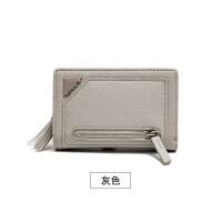 新款2018新款钱包女短款韩版学生小清新可爱流苏钱夹多功能零钱包