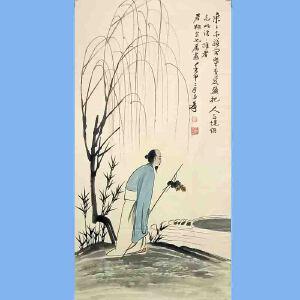 """中国著名的泼墨画家,书法家,具有极大的国际声誉,被西方誉为""""东方之笔""""张大千(人物)"""