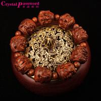 水晶密码CrystalPassWord 天然皮黑十八罗汉手链TGMY1Q106
