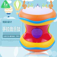 宝乐童益智手拍音乐鼓早教认知玩具灯光音乐可蹲坐音乐鼓手拍玩具