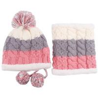 毛线帽子围脖护颈帽可爱女生冬帽脖套两件套装骑车防风