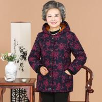 中老年女装冬装棉衣加绒加厚棉袄奶奶短款大码妈妈装老人外套