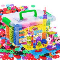 儿童积木塑料雪花片大号玩具1-2-3-6周岁益智男女孩宝宝拼装拼插