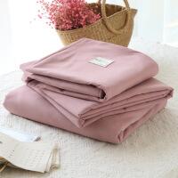 春夏日式无印系列床上用品网红纯色良品四件套民宿床单被套三件套