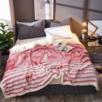 君别双层毛毯被子加厚冬季羊羔绒保暖法兰绒毯子珊瑚绒男女床单人冬用