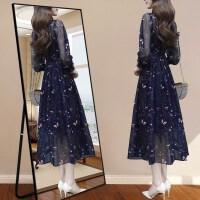 碎花雪纺连衣裙流行女装长裙夏季2019春季新款气质很仙的夏款裙子NRC11-9039