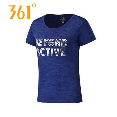 【第二件半价】361°正品361度新款夏季女上衣潮流轻薄透气速干运动休闲T恤661824102
