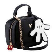 迪士尼米奇米妮女包链条斜挎单肩包两用手提包迷你小包SN7914 黑色(预售3月30日出货)