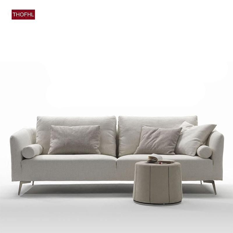 【直降到底 质保三年】北欧舒适系亲肤沙发W1848 组合沙发转角沙发牛皮沙发羽绒沙发乳胶沙发支付礼品卡 送靠枕 可拆洗 送货到家