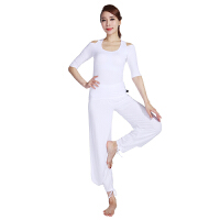 [当当自营]皮尔瑜伽(pieryoga)运动健身服女士瑜伽服 中长袖套装舞蹈居家服 53404白色+11821白色M