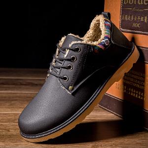 棉鞋男秋冬季保暖男士工装鞋加绒加棉棉靴低帮鞋休闲工作靴子雪地靴